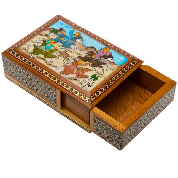 Handicraft-Inlay-Card-Holder-Hunt-Designb6a823